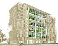 Apartment Design Competition a high rise apartment complex with built-in greenhouse
